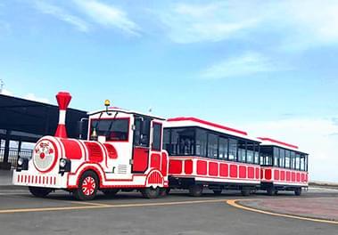 无轨观光小火车带动了整个游乐设备的经济发展