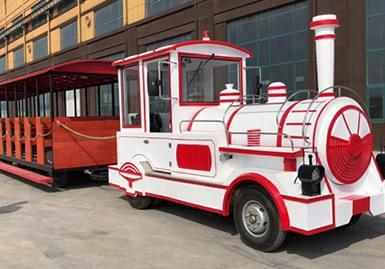 无轨电瓶火车带动中原杂技博物馆的客流量